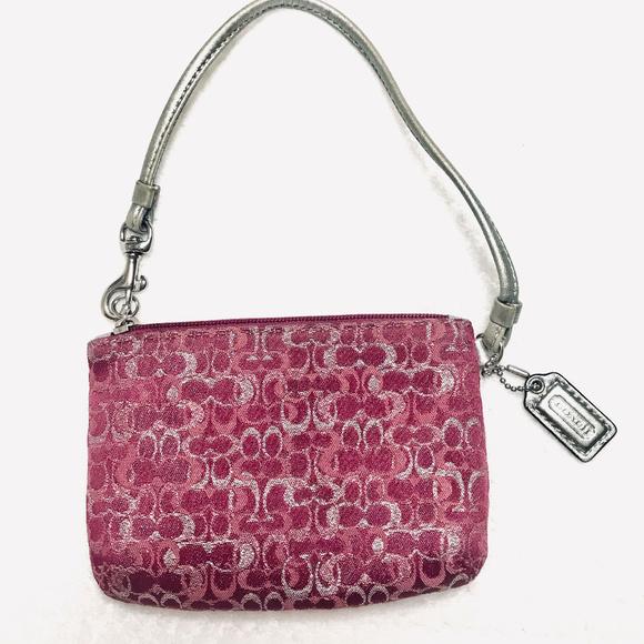 Coach Handbags - Metallic Canvas Mini Purse Wallet wristlet